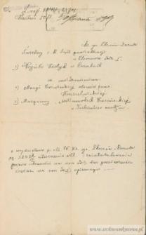 Hryńko Kostyk - Pismo do sądu w sprawie zmiany właściciela gruntu