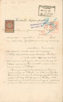 Józef Czerniecki - kontrakt kupna sprzedaży