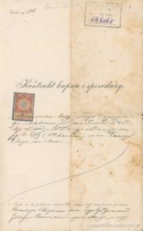 Józef Czerniecki, syn Macieja - Kontrakt kupna i sprzedaży