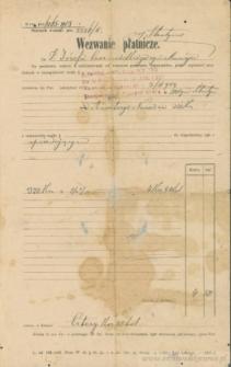 Józef Czerniecki (syn Macieja) - Wezwanie płatnicze
