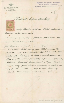 Jędrzej Czerniecki - Kontrakt kupna sprzedaży
