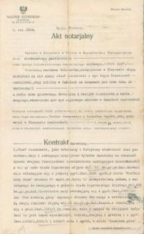 Franciszek Czerniecki - Akt notarjalny