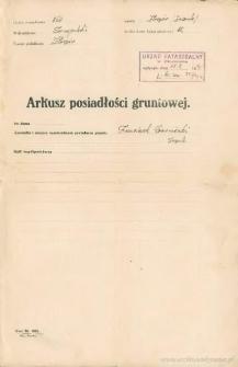 Franciszek Czerniecki - Arkusz posiadłości gruntowej