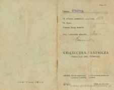 Maria Czerniecka - Książeczka płatnicza podatku gruntowego
