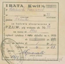 Franciszek Czerniecki - Kwit No 570 ; I rata