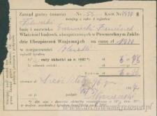 Franciszek Czerniecki - dowód opłaty ubezpieczenia budynków