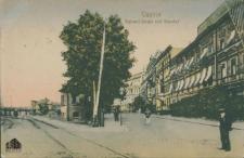 Kostrzyn / Cüstrin; Bahnhof-Strasse und Bahnhof