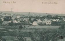 Zielona Góra / Grünberg i. Schl.; Gesamtansicht von Süden