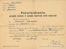 Franciszek Czerniecki - Potwierdzenie przyjęcia wniosku w sprawie rejestracji szkód wojennych