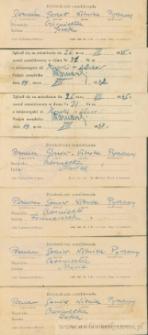 Franciszek Czerniecki - Potwierdzenie zameldowania