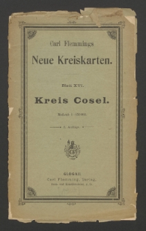 Kreis Cosel [Dokument kartograficzny]