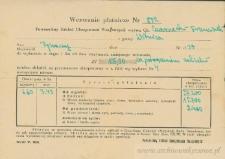 Franciszek Czerniecki - Wezwanie płatnicze Nr 872