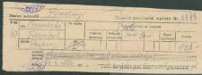 Franciszek Czerniecki - Dowód przyjęcia wpłaty Nr 1171