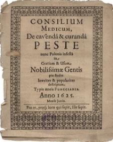 Consilium Medicum De cavenda et curenda Peste