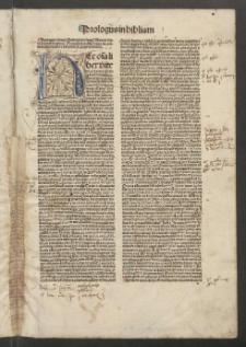 Biblia cum postillis Nicolai de Lyra et expositionibus Guillelmi Britonis in omnes prologos s. Hieronymi et additionibus Pauli Burgensis replicisque Matthiae Doering. T. 1