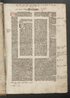 Biblia cum postillis Nicolai de Lyra et expositionibus Guillelmi Britonis in omnes prologos s. Hieronymi et additionibus Pauli Burgensis replicisque Matthiae Doering. T. 2