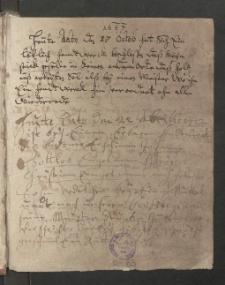 Böttcher. Protokollbuch von 1633-1749