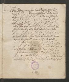 Fleischer. Sammelbuch für die abgebrannten Meister von 1619