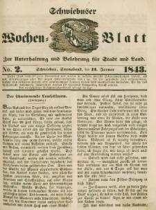 Schwiebuser Wochen=Blatt, No. 2 (Sonnabend; den 14. Januar)