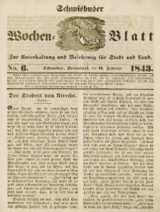 Schwiebuser Wochen=Blatt, No. 6 (Sonnabend; den 11. Februar)