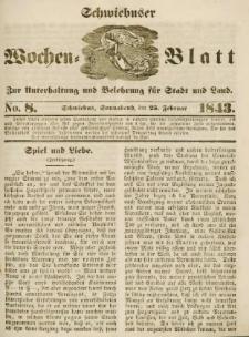 Schwiebuser Wochen=Blatt, No. 8 (Sonnabend; den 25. Februar)