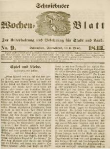 Schwiebuser Wochen=Blatt, No. 9 (Sonnabend; den 4. März)
