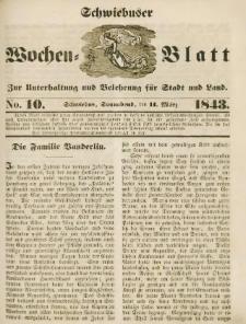 Schwiebuser Wochen=Blatt, No. 10 (Sonnabend; den 11. März)