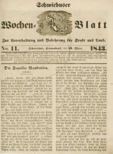 Schwiebuser Wochen=Blatt, No. 11 (Sonnabend; den 18. März)
