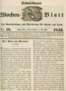 Schwiebuser Wochen=Blatt, No. 18 (Sonnabend; den 6. Mai)