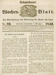Schwiebuser Wochen=Blatt, No. 23 (Sonnabend; den 10. Juni)