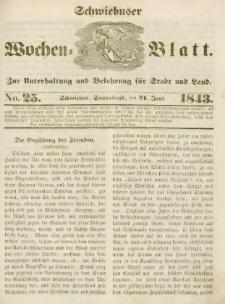Schwiebuser Wochen=Blatt, No. 25 (Sonnabend; den 24. Juni)