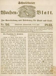 Schwiebuser Wochen=Blatt, No. 26 (Sonnabend; den 1. Juli)