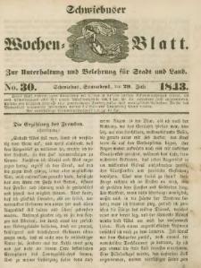 Schwiebuser Wochen=Blatt, No. 30 (Sonnabend; den 29. Juli)