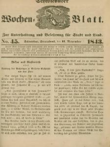 Schwiebuser Wochen=Blatt, No. 45 (Sonnabend; den 11. November)
