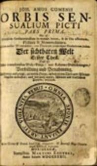 Orbis sensualium picti hoc est omnium fundamentalium in mundo rerum, et in vita actionum, pictura et nomenclatura: pars prima