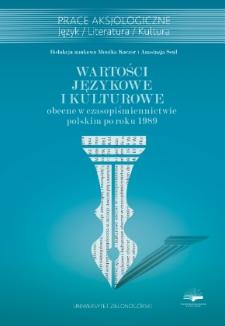 Wartości językowe i kulturowe obecne w czasopiśmiennictwie polskim po roku 1989 - spis treści