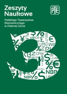 Zeszyty Naukowe Polskiego Towarzystwa Ekonomicznego w Zielonej Górze, nr 3