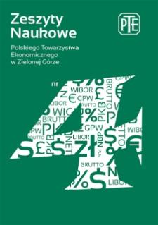 Zeszyty Naukowe Polskiego Towarzystwa Ekonomicznego w Zielonej Górze, nr 4