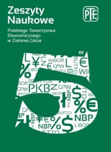 Zeszyty Naukowe Polskiego Towarzystwa Ekonomicznego w Zielonej Górze, nr 5