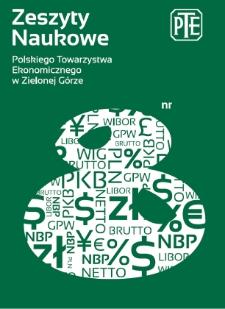 Zeszyty Naukowe Polskiego Towarzystwa Ekonomicznego w Zielonej Górze, nr 8