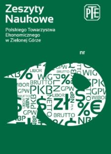 Zeszyty Naukowe Polskiego Towarzystwa Ekonomicznego w Zielonej Górze, nr 10