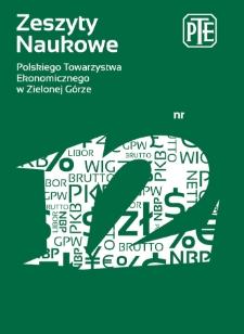 Zeszyty Naukowe Polskiego Towarzystwa Ekonomicznego w Zielonej Górze, nr 12