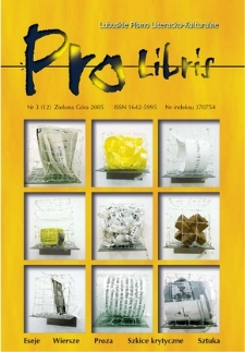 Pro Libris: Lubuskie Pismo Literacko-Kulturalne, nr 3 (2005)