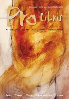 Pro Libris: Lubuskie Pismo Literacko-Kulturalne, nr 1 (2006)