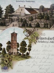 Jędrzychów / Heinersdorf; Scheibel's Restaurant; Restauracja Scheibelsa