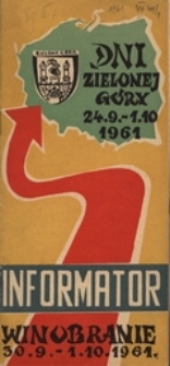 Dni Zielonej Góry 1961: informator
