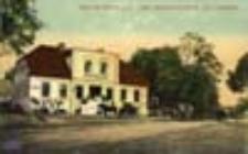 Siedlisko / Carolath; Gruss aus Carolath a. O. (Hotel Jägerhof mit Garten)