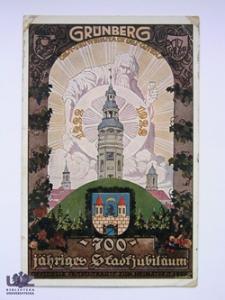 Zielona Góra / Grünberg; 700 jähriges Stadtjubiläum; Karta jubileuszowa z okazji 700-lecia powstania Zielonej Góry