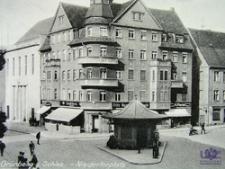 Zielona Góra / Grünberg; Niedertorplatz; skrzyżowanie ul. Kupieckiej, ul. Żeromskiego i al. Niepodległości