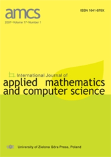 International Journal of Applied Mathematics and Computer Science (AMCS) 2007 Volume 17 Number 1